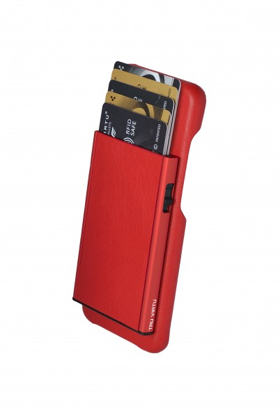 Tru Virtu Wallet Click&Slide Pay&Phone Galaxy 8 red
