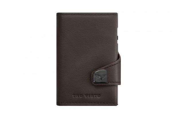 Tru Virtu Wallet Click&Slide Double Brown Nappa