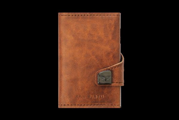 Tru Virtu Wallet Click&Slide Natural Brown