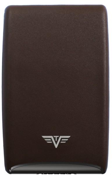 Tru Virtu Credit Card Case FAN Leather Nappa brown