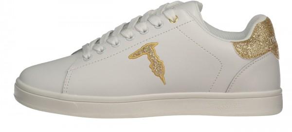 Damen Sneaker Glitter Logo Gold