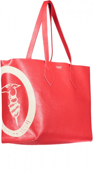 Logo Shopper Saffiano Leder