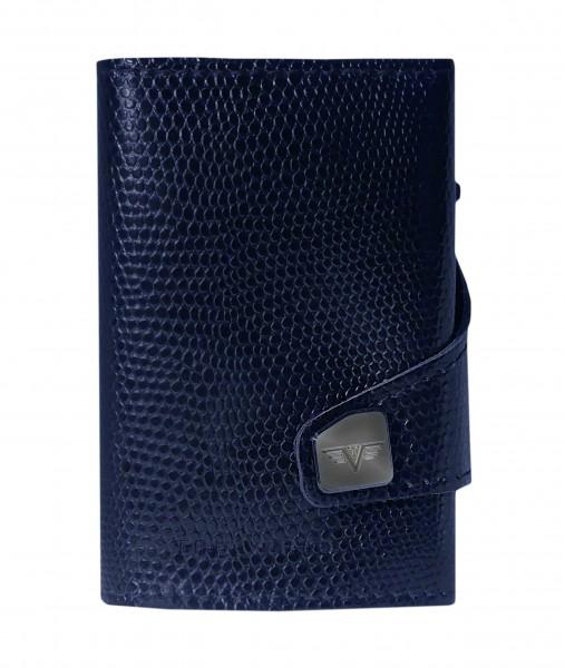Tru Virtu Wallet Click&Slide Iguana Glossy Violet Red