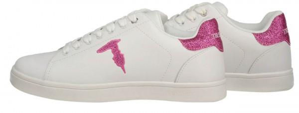 Damen Sneaker Glitter Logo Pink