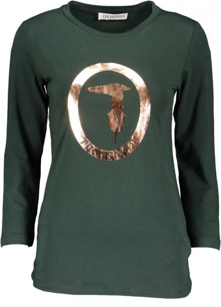 3/4 Arm Shirt Metallic Logo grün