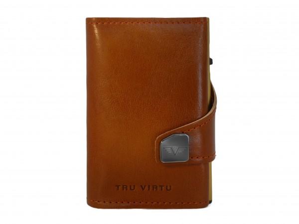 Tru Virtu Wallet Click&Slide Florence Cognac/Gold