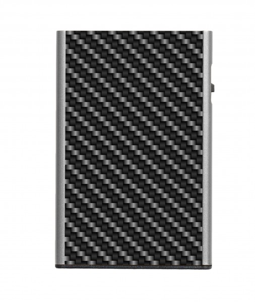 Tru Virtu Card Case Click&Slide Single Carbon Black Silver