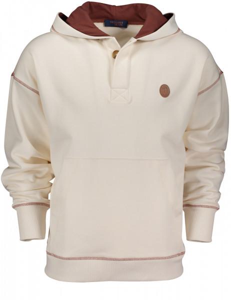 Sweatshirt mit Kapuze und Kontrastnaht
