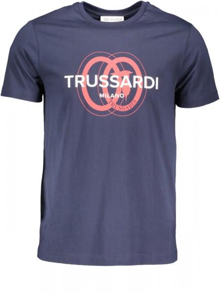 Herren Kurzarm T-shirt mit Frontlogo navy blue