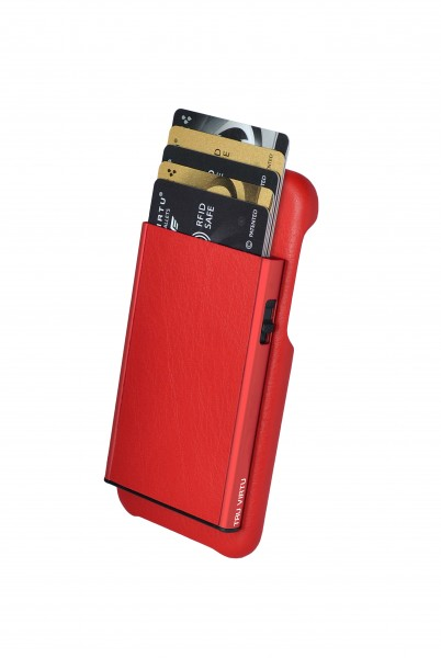 Tru Virtu Wallet Click&Slide Pay&Phone IPhone8 red