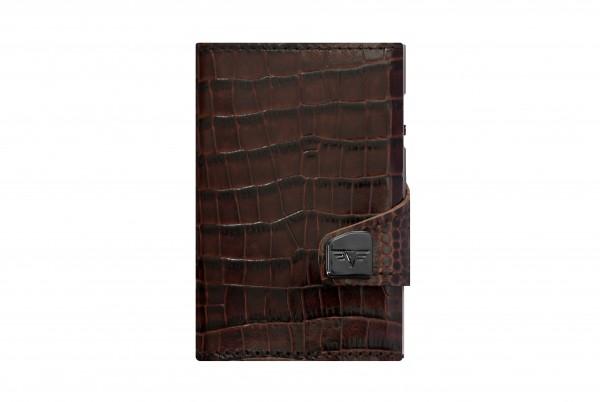 Tru Virtu Wallet Click&Slide Crocco Brown