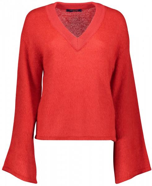 Pullover aus Mohair mit V-Ausschnitt