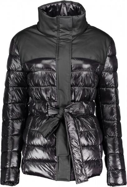 Gesteppte Damenjacke kurz shiny light Nylon