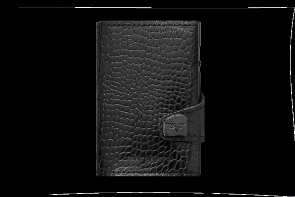 Tru Virtu Wallet Click&Slide Croco black