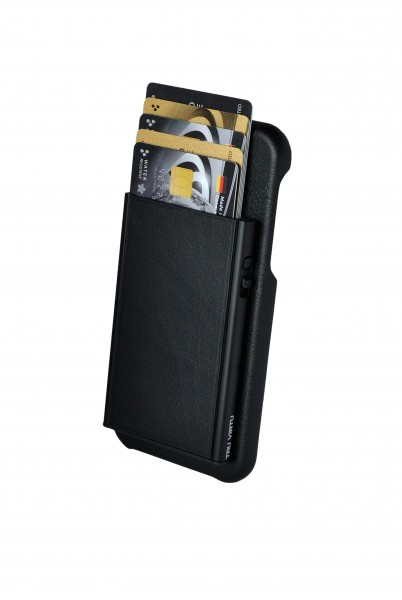Tru Virtu Wallet Click&Slide Pay&Phone IPhoneX black