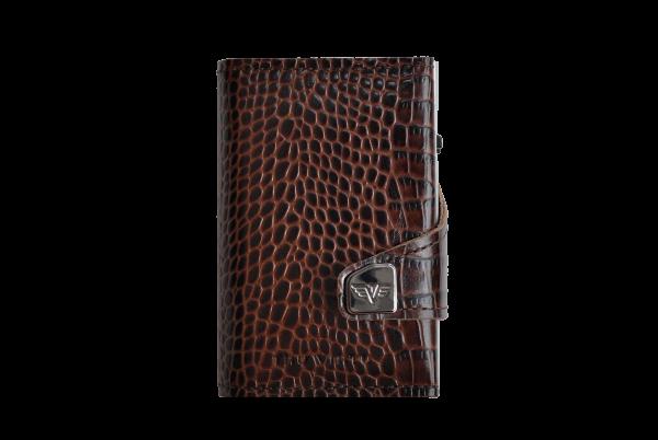 Tru Virtu Wallet Click&Slide Double Croco brown