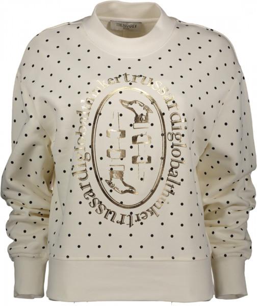 Sweatshirt Pois und Golddruck