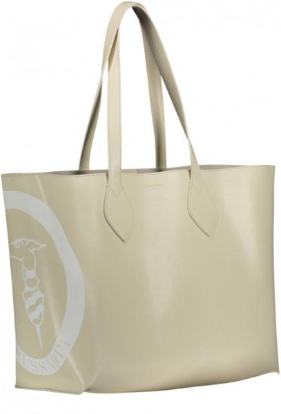 Logo Shopper medium Saffiano Leder