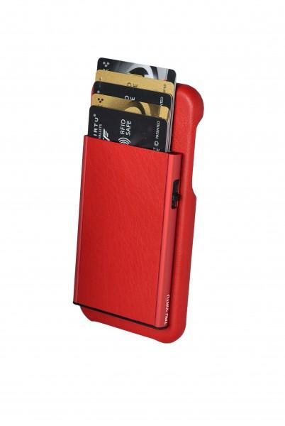 Tru Virtu Wallet Click&Slide Pay&Phone IPhoneX red