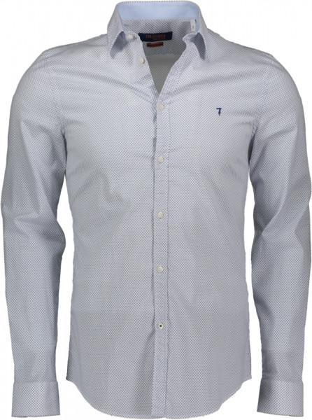 Hemd aus Popeline Strech Slim Fit