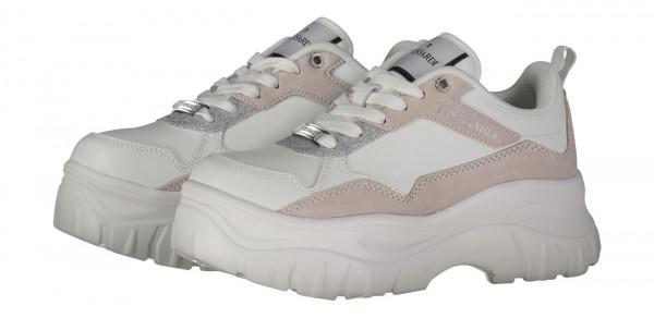 Sneaker Chorisia mix Leder und Velour white