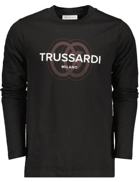 Herren Langarm T-Shirt mit Frontlogo