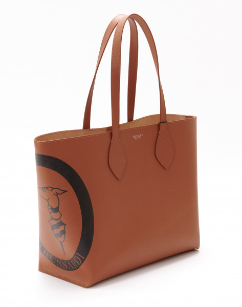 Logo Shopper medium Saffiano Leder