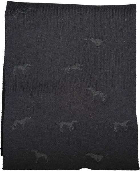 Schal mit Levriero Stickerei