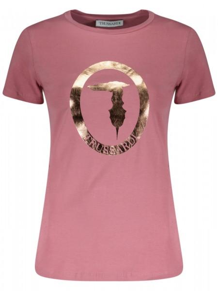 T-Shirt mit Metallic Logo