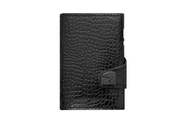 Tru Virtu Wallet Click&Slide Double Croco black