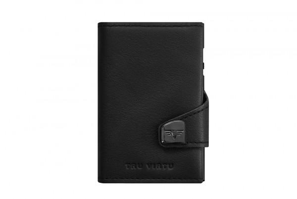 Tru Virtu Wallet Click&Slide Double Black Nappa